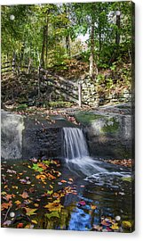 Acrylic Print featuring the photograph Autumn Glen Olmsted Falls by Lon Dittrick