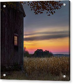 Acrylic Print featuring the photograph Autumn Glow Square by Bill Wakeley