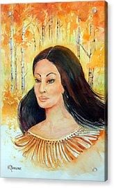 Autumn Goddess Acrylic Print