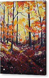 Autumn Gold Acrylic Print by Rollin Kocsis