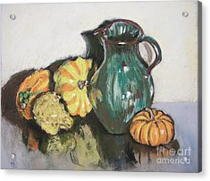 Autumn Gourds Acrylic Print by Mary Capriole