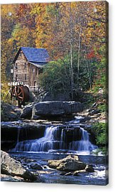 Autumn Grist Mill - Fs000141 Acrylic Print