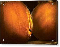 Autumn - Halloween -  Smile If Your Happy Acrylic Print by Mike Savad