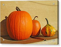 Autumn Harvest Still Life Acrylic Print by Tony Ramos