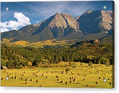 Autumn Hay In The Rockies Acrylic Print by Steve Stuller
