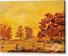 Autumn Haying Acrylic Print