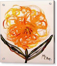 Autumn Hope Flower Acrylic Print by Mary Carol Williams