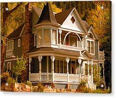 Autumn House Acrylic Print by David Lee Thompson