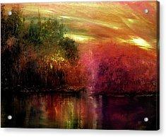 Autumn Hues Acrylic Print by Ann Marie Bone