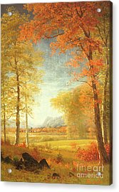 Autumn In America Acrylic Print by Albert Bierstadt