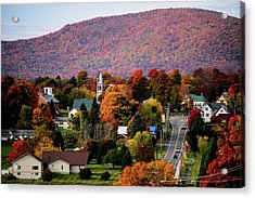 Autumn In Danville Vermont Acrylic Print by Sherman Perry