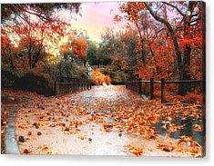 Autumn In Discovery Lake Acrylic Print