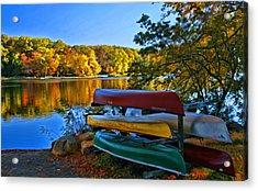 Autumn In Mountain Lakes Acrylic Print by Allen Beatty
