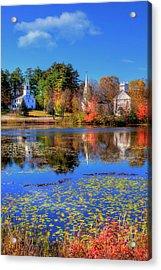 Autumn In New England - Marlowe Nh Acrylic Print