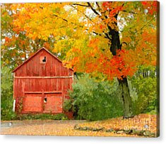 Autumn In New England Acrylic Print by Michael Petrizzo