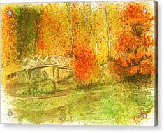 Autumn Landscape Painting  Acrylic Print by Remy Francis