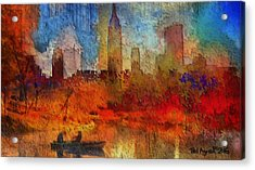 Autumn In New York Acrylic Print by Ted Azriel