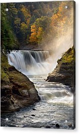 Acrylic Print featuring the photograph Autumn In New York by Timothy McIntyre