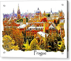 Autumn In Prague Acrylic Print