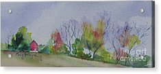 Acrylic Print featuring the painting Autumn In Rural Ohio by Mary Haley-Rocks