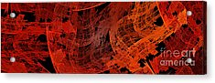 Acrylic Print featuring the digital art Autumn In Space Abstract Pano 1 by Andee Design