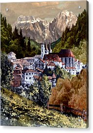Autumn In The Alps Acrylic Print