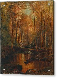 Autumn In The Catskills Acrylic Print by Jervis McEntee