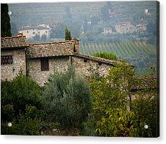 Autumn In The Chianti Region Acrylic Print