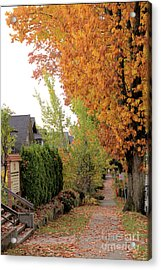 Autumn In The City Acrylic Print