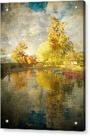 Autumn In The Pond Acrylic Print