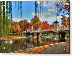Autumn In The Public Garden - Boston Acrylic Print