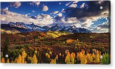 Acrylic Print featuring the photograph Autumn In The Rockies by Andrew Soundarajan