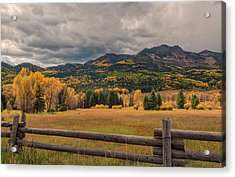 Autumn In The San Juan River Valley Acrylic Print by Loree Johnson