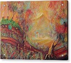Autumn In The Shire Bag End Acrylic Print by Joe  Gilronan