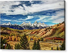 Autumn In The Tetons Acrylic Print by Jean Hutchison