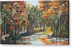 Autumn In The Woods Acrylic Print by Mabel Moyano
