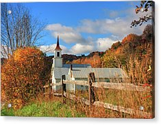 Autumn In Vermont - North Tunbridge  Acrylic Print by Joann Vitali