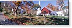 Autumn In Village Of Peacham, Vermont Acrylic Print