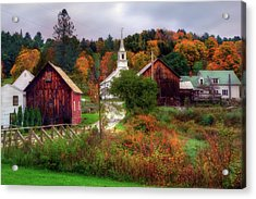Autumn In Waits River Vermont Acrylic Print