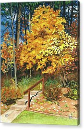 Acrylic Print featuring the painting Autumn Invitation by Barbara Jewell