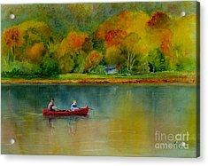Autumn Acrylic Print by Karen Fleschler