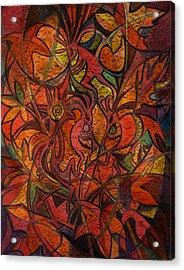 Autumn Kokopelli Acrylic Print