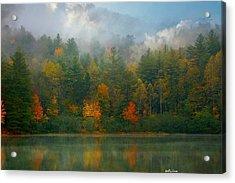 Autumn Lake Acrylic Print by Molly Dean