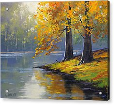 Autumn Lake Print Acrylic Print by Graham Gercken
