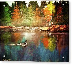 Autumn Lake Reflections Acrylic Print
