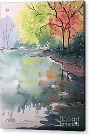 Autumn Lake Acrylic Print by Yohana Knobloch