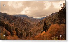 Autumn Landscape In The Smoky Mountains Acrylic Print