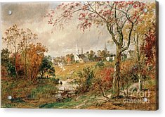 Autumn Landscape Acrylic Print by Jasper Francis Cropsey