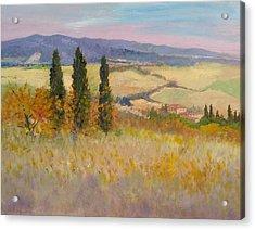 Autumn Landscape - Tuscany Acrylic Print by Biagio Chiesi