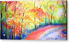 Autumn Lane Iv Acrylic Print by Lizzy Forrester